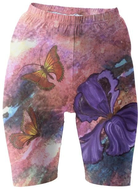 Pastel Monarchs Bike Shorts