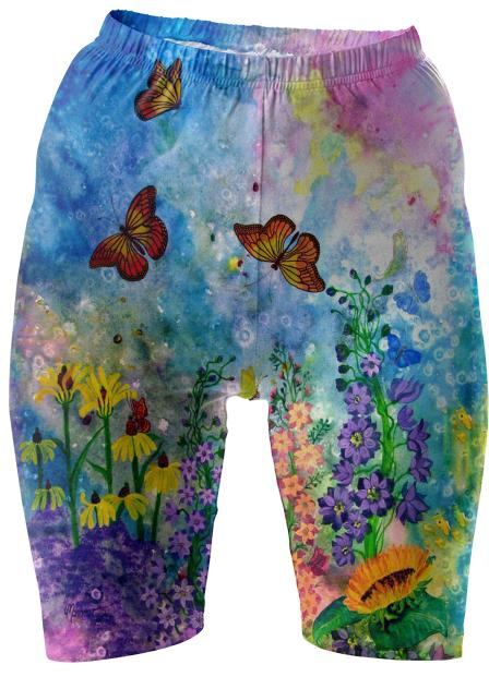 Butterfly Garden II Bike Shorts