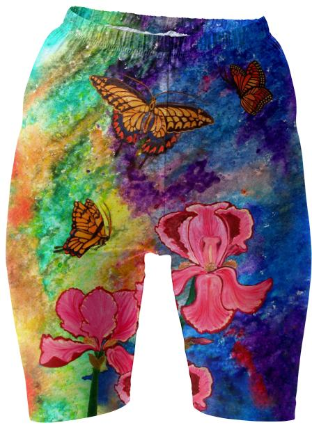 Swallowtail Attraction Bike Shorts