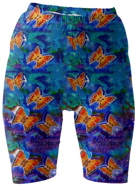 Wax Relief Butterflies Bike Shorts