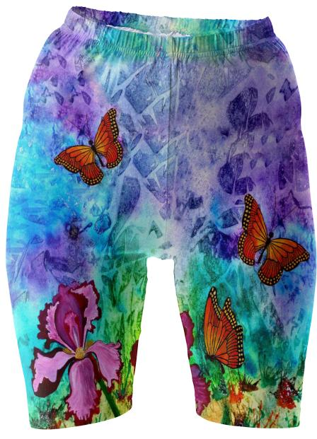 Pink Iris II Bike Shorts