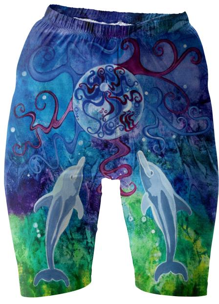 Dolphin Gaze Bike Shorts