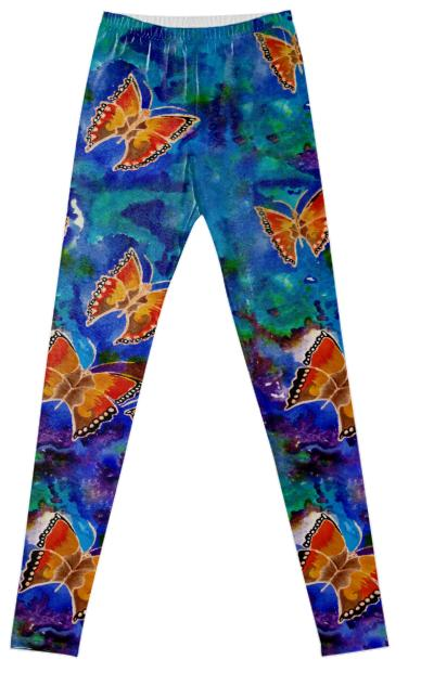 Wax Relief Butterflies Fancy Leggings