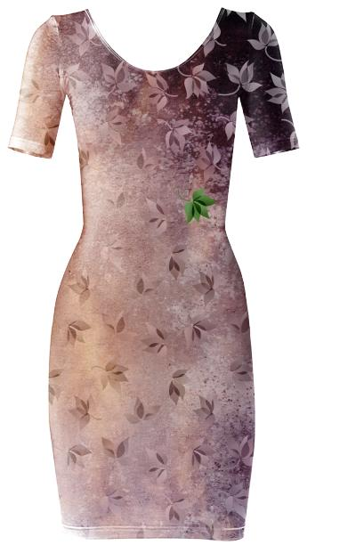 Autumn Leaves Bodycon Dress