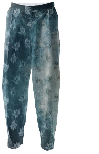 Blue Autumn Relaxed Pants
