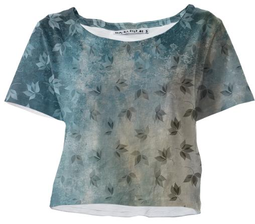 Blue Autumn Crop Tee
