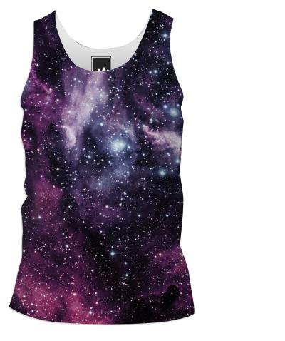 Galaxy and Nebula Tank Top Men