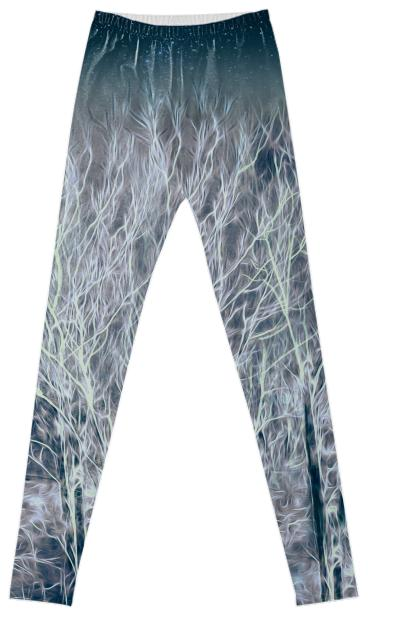 Abstrac Magic Energetic Ice Forest Fancy Leggings