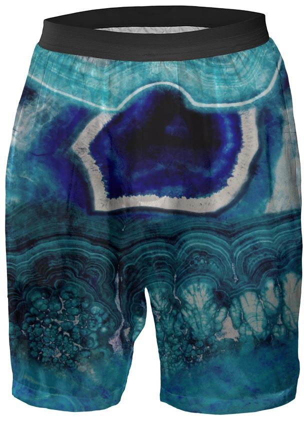 Abstract Blue Agates Boxer Shorts
