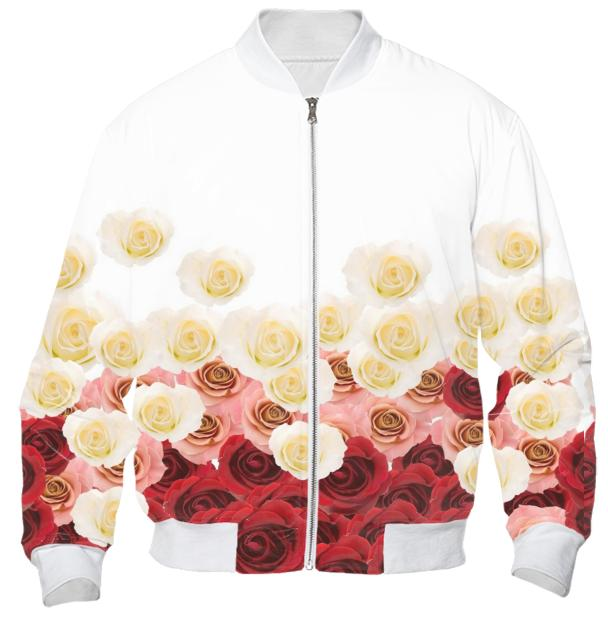 Rose Drops Vintage Bomber Jacket