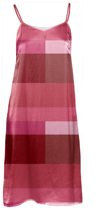 Geometric Modern Lines Berry slip dress