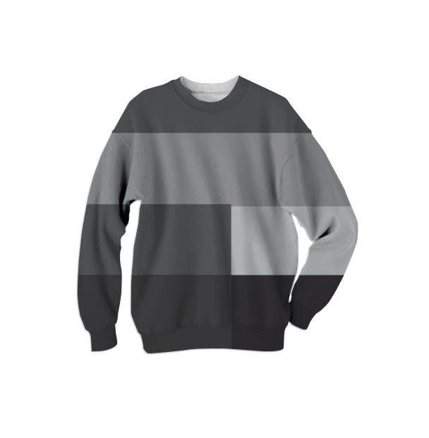Geometric Modern Lines River Rock sweatshirt