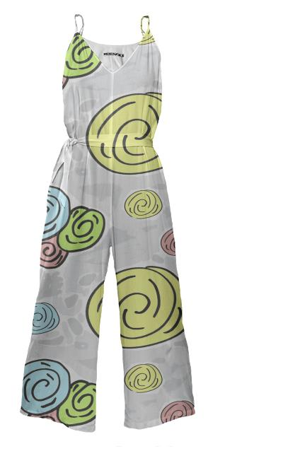 Retro Bouquet Pacific jump suit