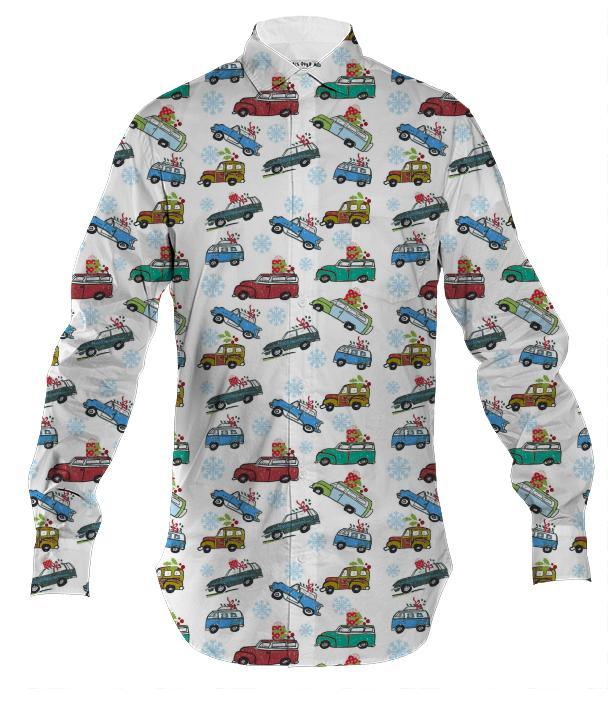 Vintage Cars Holiday Men s Button Down