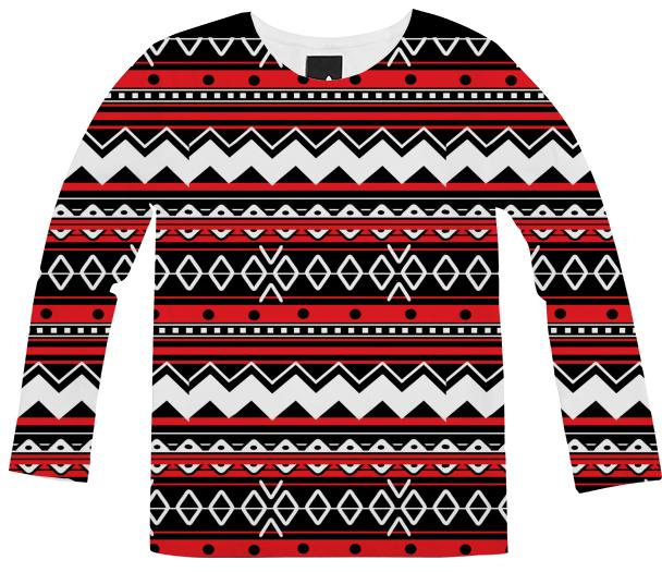 Red Tribal Chevron