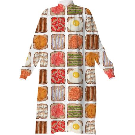Breakfast Toast Shirt Dress
