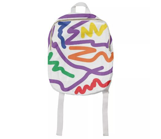 PAOM, Print All Over Me, digital print, design, fashion, style, collaboration, brittneyscott, Kids Backpack, Kids-Backpack, KidsBackpack, Scribble, autumn winter spring summer, unisex, Cotton, Kids
