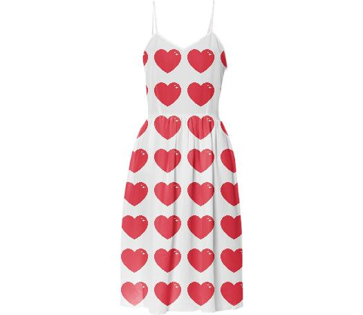 Heart Attack Summer Dress Repeat Med White