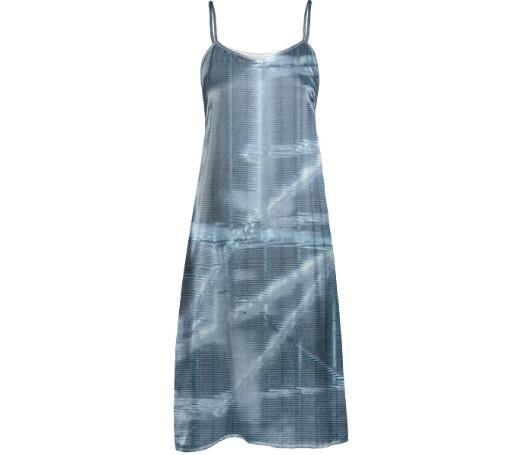 GRLZ SLIP DRESS in FOIL