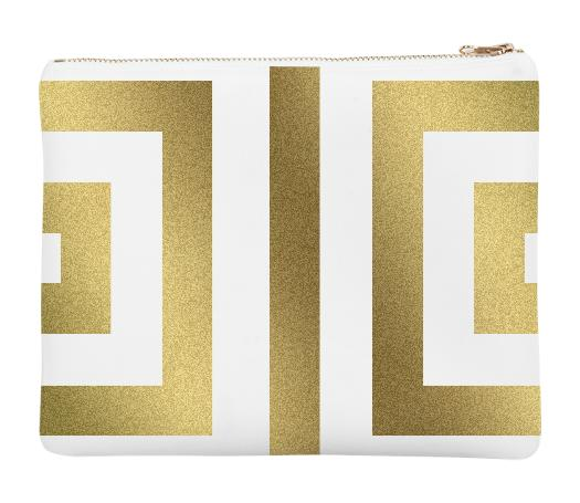 Gold Geometry Pouch