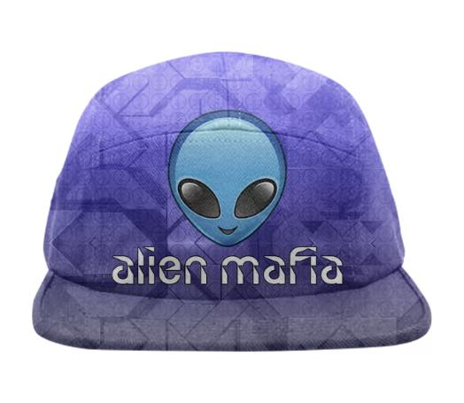 Blue Alien Mafia Hat