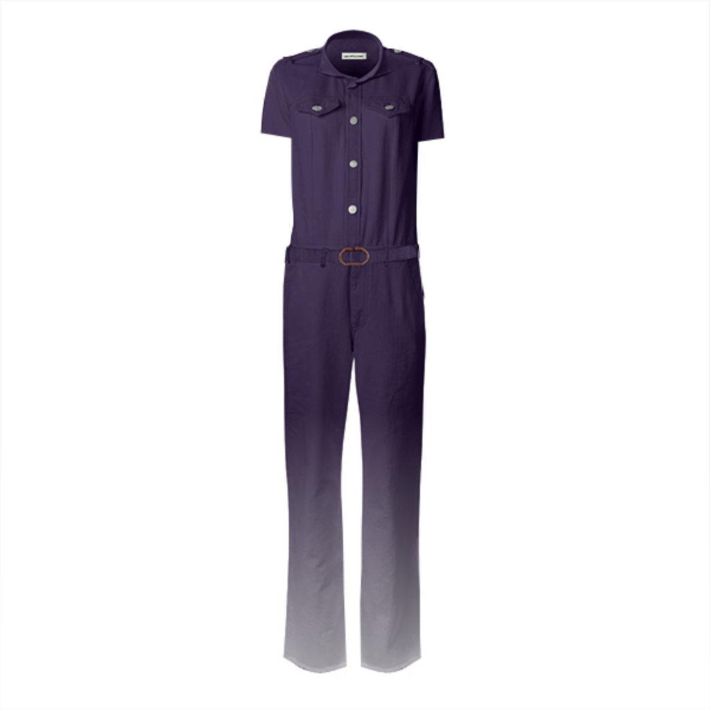 womens purple rain jumpsuit