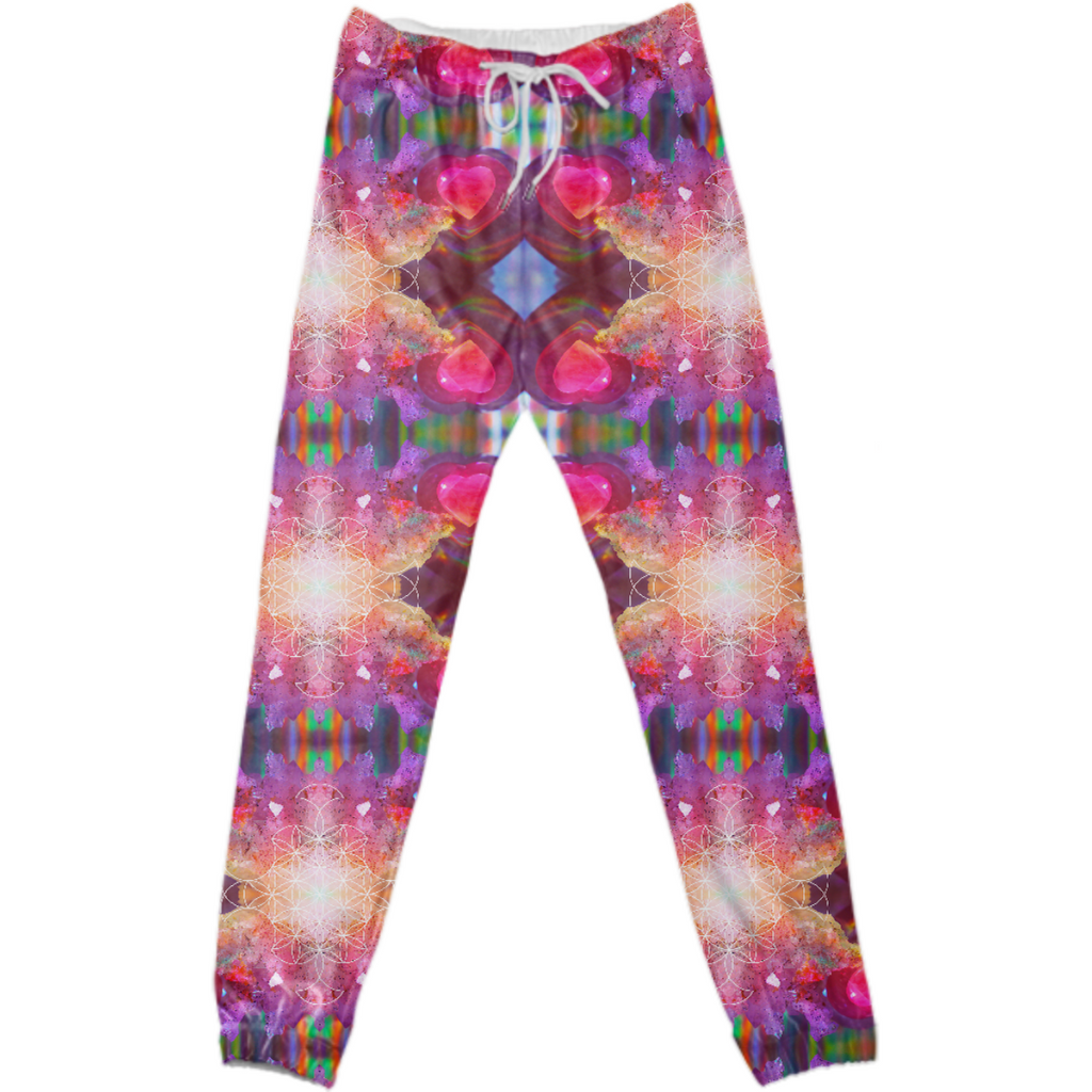 rainbow amethyst and rose quartz crystal rainbow mandala ~ legging  ~ design 01