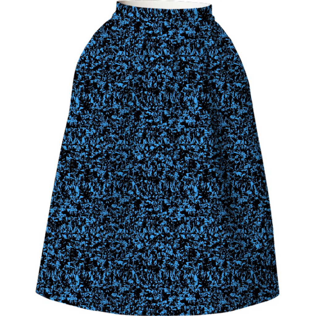 Blue Static Neoprene Skirt