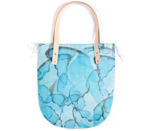 Blue Butterfly Summer Tote