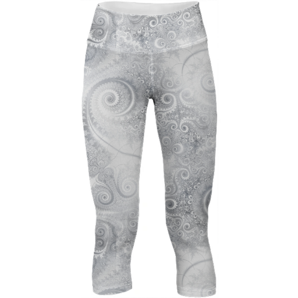 Silver White Swirls and Spirals Pattern
