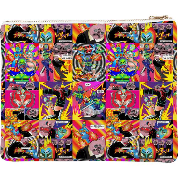 PAOM, Print All Over Me, digital print, design, fashion, style, collaboration, bcalla, Neoprene Clutch, Neoprene-Clutch, NeopreneClutch, Comic, Cover, autumn winter spring summer, unisex, Neoprene, Bags