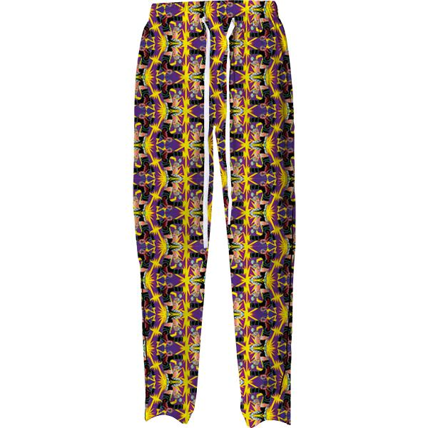 PAOM, Print All Over Me, digital print, design, fashion, style, collaboration, bcalla, Pajama Pant, Pajama-Pant, PajamaPant, Fight, autumn winter spring summer, unisex, Cotton, Bottoms