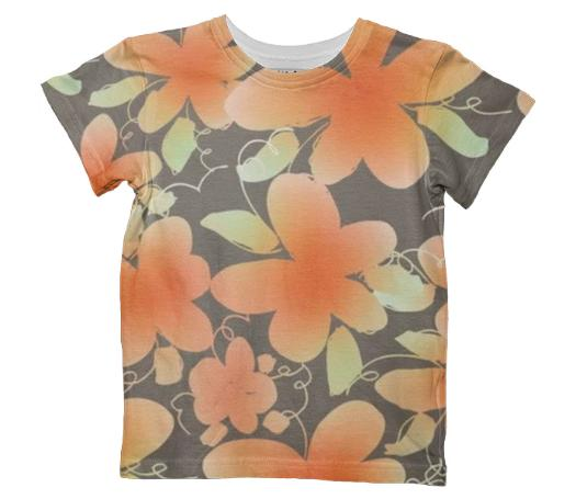 Grey and Peach Kids T shirt