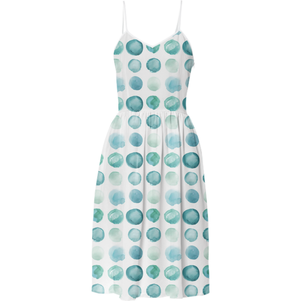 Aqua Sea Glass Juul Summer Dress