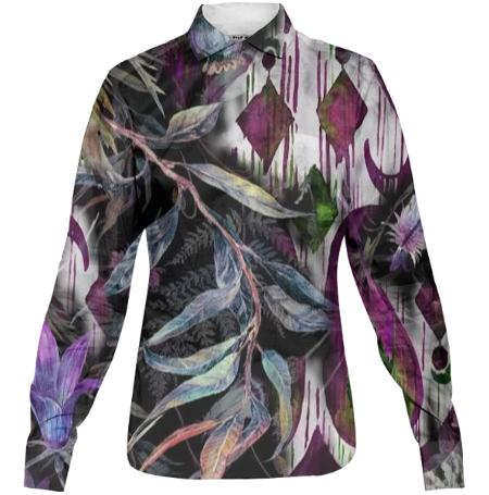Raven Women s Buttondown Classic Shirt