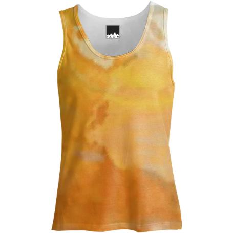 Yellow Splatter Tank top