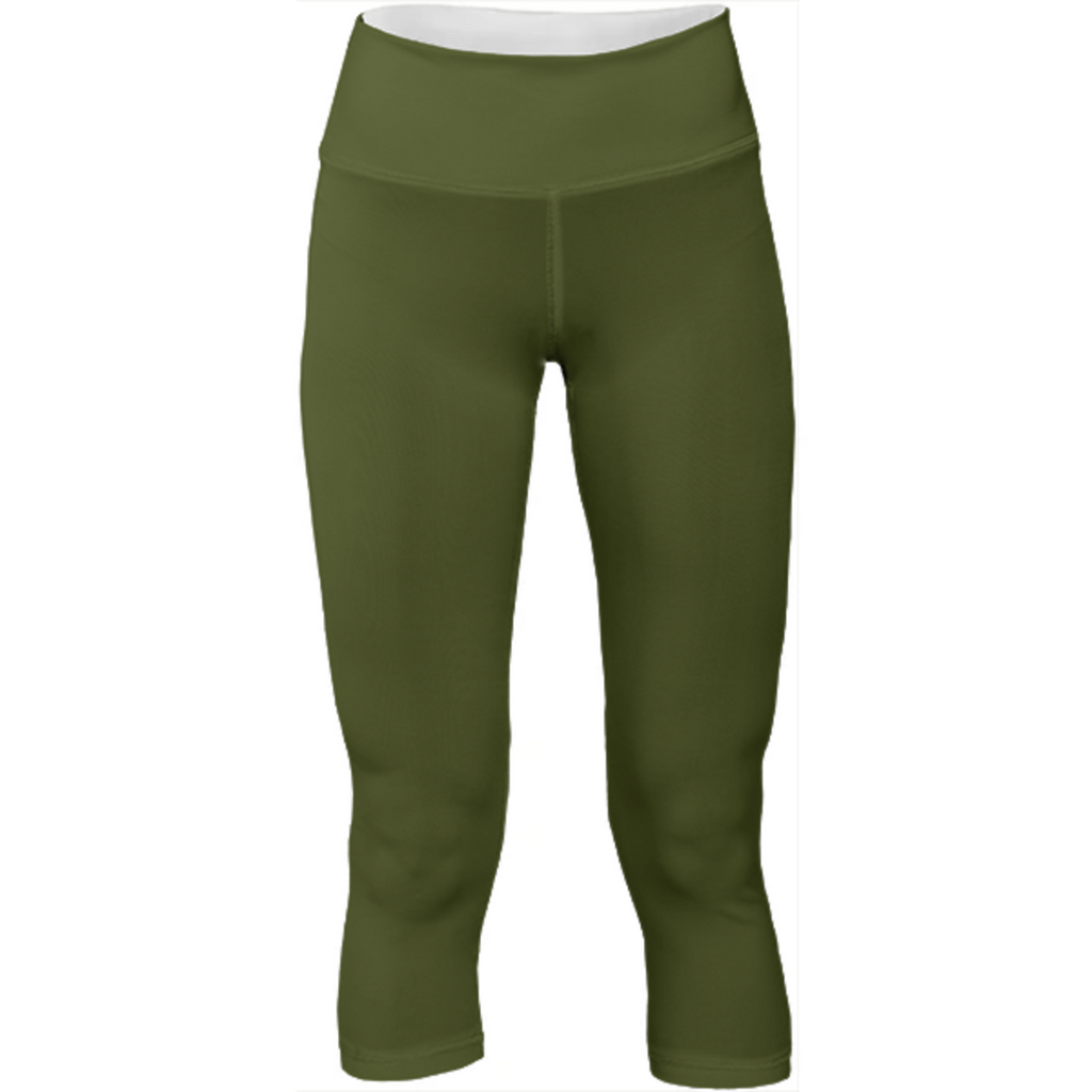 Solid Army Green Yoga Pants