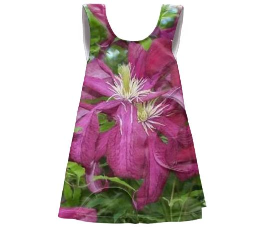 Pink Flowered Apron Dress
