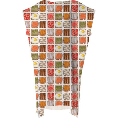 Breakfast Toast Square Dress