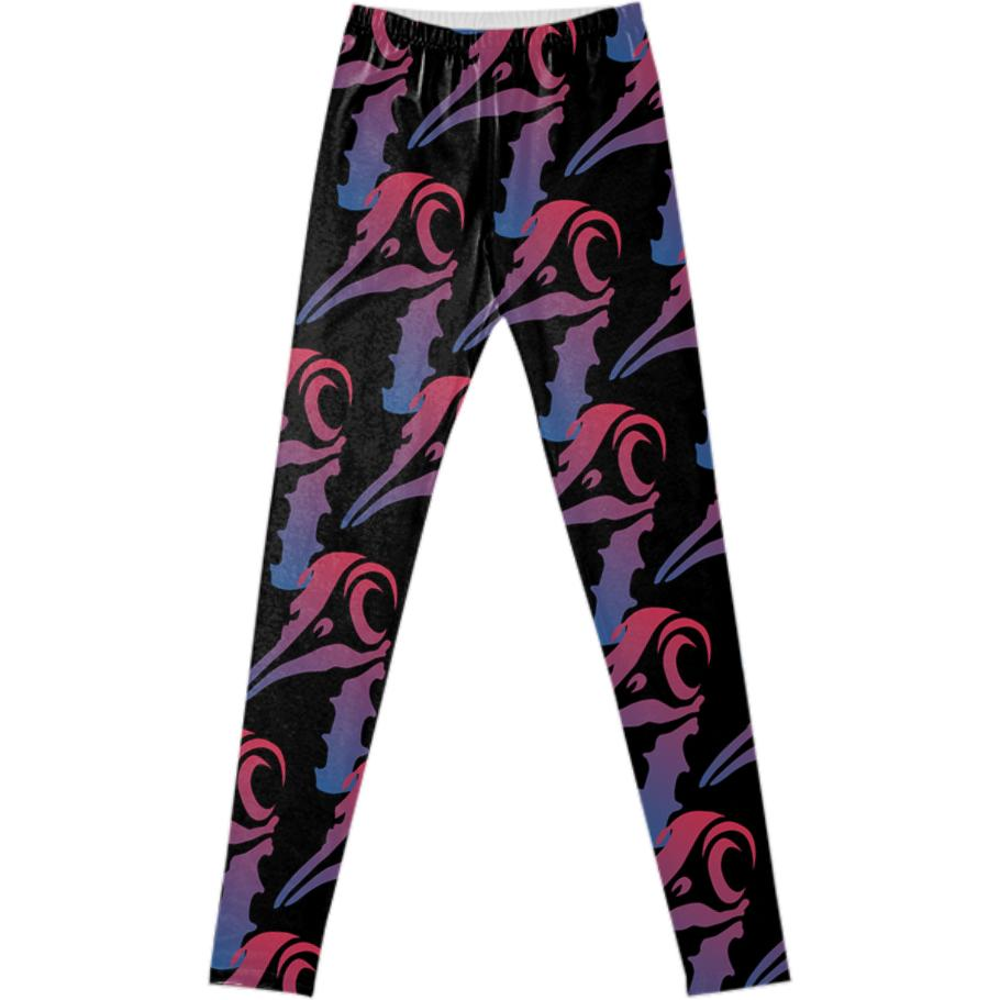 Brave Penguin Pink Purple Cascade Leggings