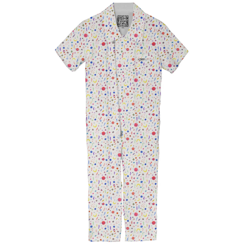 Space Confetti Kids Jumpsuit