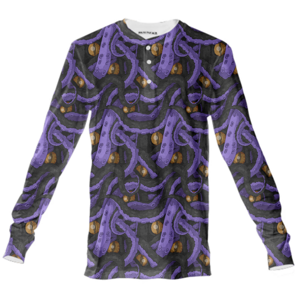 Kracken Tentacle Henley Shirt