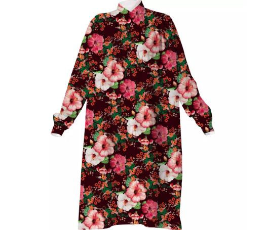 Floral Pattern Shirtdress