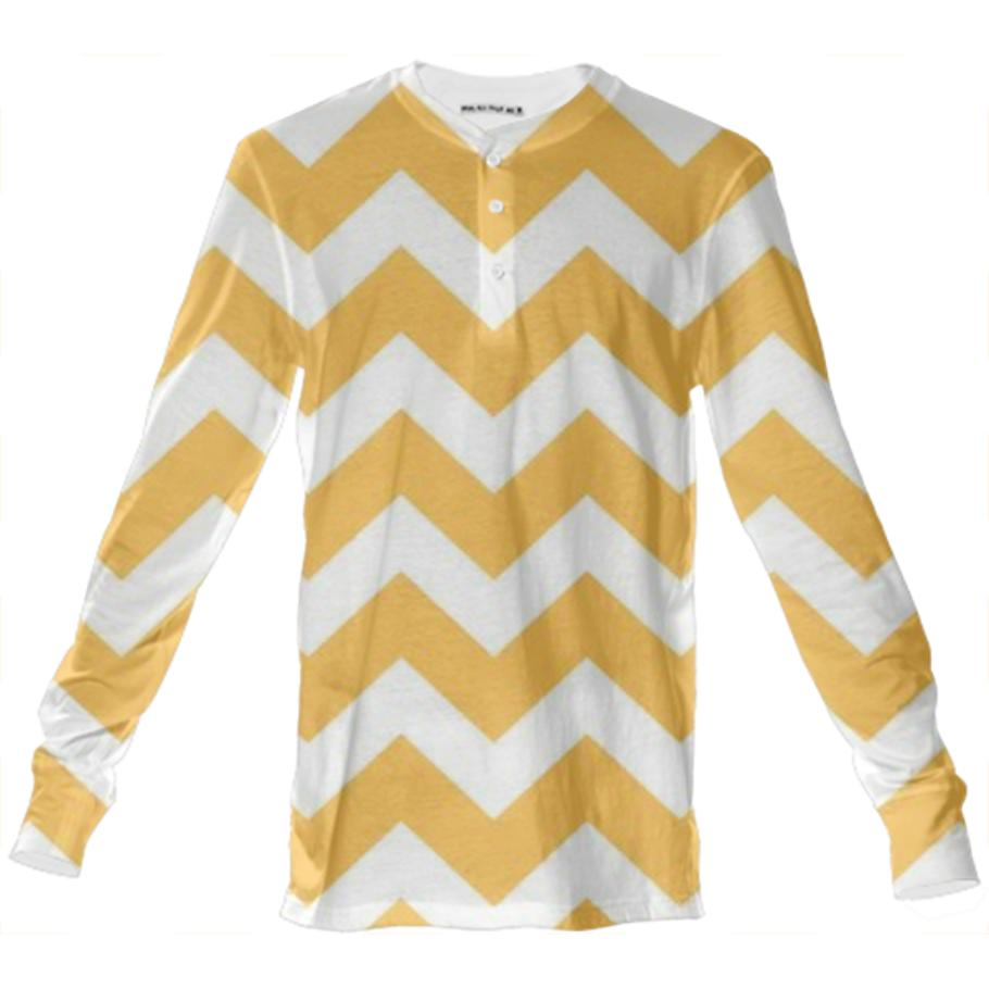 Designers t shirt Gold and white stripes