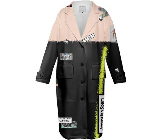 Attention Spam Neoprene Trench