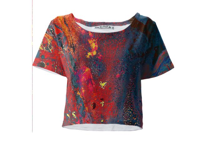 Lava Texture Crop Top