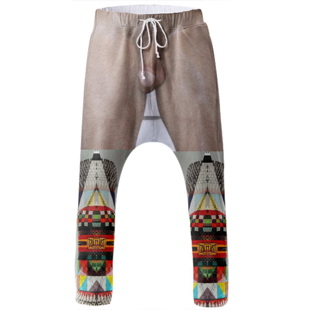 Naked Apache drop crotch pants