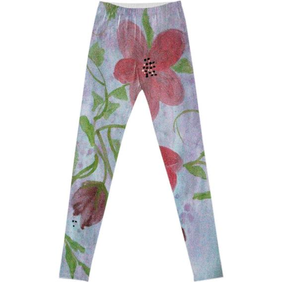 Pink Floral Fancy Leggings