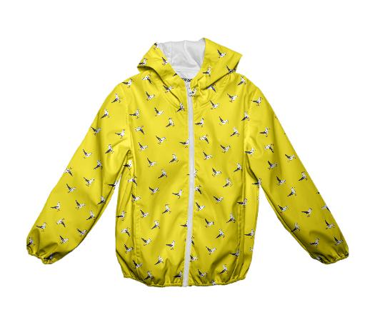 Kids Micro Gull Squad Rain Slicker in vibrant yellow