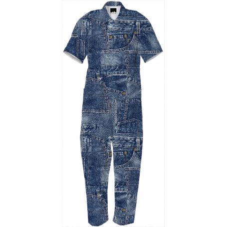 PAOM, Print All Over Me, digital print, design, fashion, style, collaboration, gabrielheld, Jumpsuit, Jumpsuit, Jumpsuit, Gabriel, Held, Patch, Denim, autumn winter spring summer, unisex, Cotton, One Piece